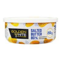 Масло Golden White вершкове солоне 80% 250г