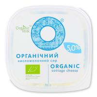 Сир Organic Milk органічний кисломолочний 5% 300г х12