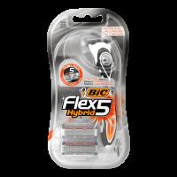 Бритва Bic Flex 5 Hybrid з 2-ма змінними картриджами х10