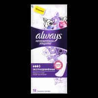 Щоденні гігієнічні прокладки Always Непомітний Захист Екстрадовгі, 18 шт.