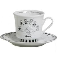 Чашка ENESCO з блюдцем Дім Art.4004457 1шт х6