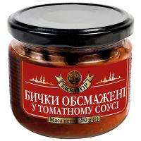 Бички Екватор обсмажені в томатному соусі с/б 280г