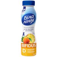 Біфідокотейль Біла Лінія 1,5% апельсин-ананас пет 250г