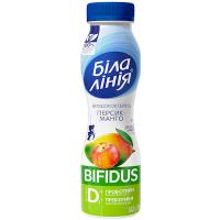 Біфідокотейль Біла Лінія 1,5% персик-манго пет 250г