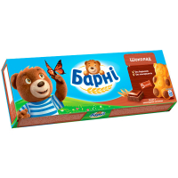 Бісквіт Ведмедик Барні з шоколадною начинкою 150г