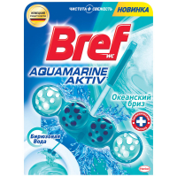 "Туалетний блок Bref Aquamarine Aktiv ""Океанський бриз"", 50 г"