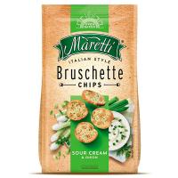 Брускети Maretti зі смаком сметани та цибулі 70г