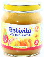 Пюре Bebivita абрикос і яблука с/б 100г х6