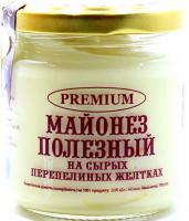 Майонез Premium Корисний на перепелиних жовтках с/б 170г