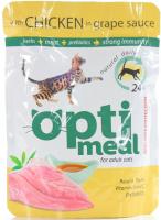 Корм Optimeal д/котів з куркою у виногр.соусі 85г х6