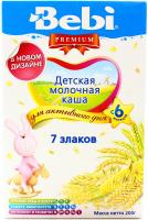Каша Bebi 7 злаків молочна 200г