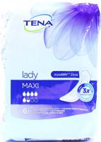 Урологічні прокладки жіночі Tena Lady Maxi, 6 шт.