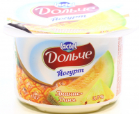 Йогурт Lactel Дольче Ананас-Диня 3,2% 115г х12