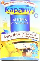 Каша Карапуз манна молочна з фруктами 250г х18