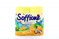 Туалетний папір Soffione Aroma Жовтий, 4 шт.