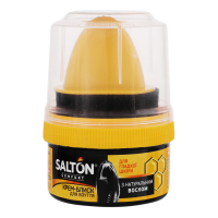 Крем-блиск Salton для взуття з гладкої шкіри чорний 50мл