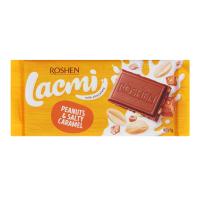 Шоколад Roshen Lacmi мол. арахіс сол.карамель 90г
