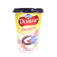 Десерт Lactel Дольче полуниця-ківі з шоколадом 3,4% 400г х12