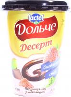 Десерт Lactel Дольче Полуниця-ківі з шоколадом 3,4% 400г х6
