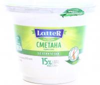 Сметана Latter безлактозна 15% 200г х6