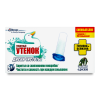 Диски чистоти Туалетне Каченя Евкаліпт зм.блок 6шт. 38г