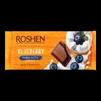 Шоколад Roshen молочний зі смак. Чорниця панна кота 90г х24