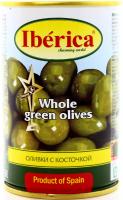 Оливки Iberica зелені з/к 300г