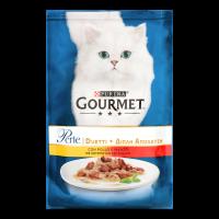 Корм Purina Gourmet з куркою та яловичиной для котів 85г х6