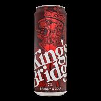 Напій слабоалкогольний King`s Bridg Brandy&Cola ж/б 0,5л х12