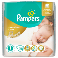 Підгузники Pampers Premium Care Newborn 2-5кг 88шт.
