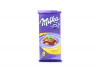 Шоколад Milka молочний з цілим мигдалем 90г х6