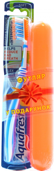 Зубна щітка Aquafresh Tooth amp Tongue soft + футляр х6 купить 802336b6a2ee3