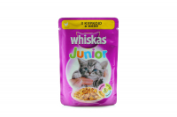 Корм Wiskas Junior д/кошенят з куркою в желе 100г х24
