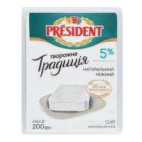 Сир President кисломолочний 5% 200г