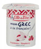 Десерт Elle&Vire молочний грецький з малиною 125г х24