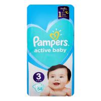 Підгузки Pampers active baby-dry 6-10кг 58шт. х6