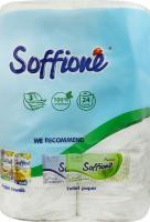 Туалетний папір Soffione Natural Білий, 24 шт.