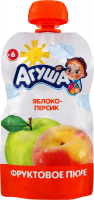 Пюре Агуша яблуко-персик д/п 90г