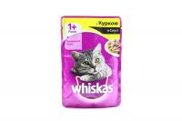 Корм Wiskas д/котів з куркою в соусі 100г х24
