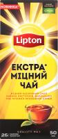 Чай Lipton Екстра міцний 25пак.50г
