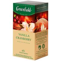 Чай Greenfield чорний Vanilla Cranberry 25*1,5г