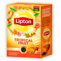 Чай Lipton Tropical fruit чорний листовий 80г