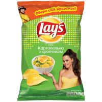 Чіпси Lays Картопелька з кропчиком 120г