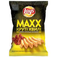 Чіпси Lays Maxx Круті хвилі Круті крильця барбекю 120г