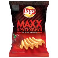 Чіпси Lays Maxx Круті хвилі Пікантна паприка 120г