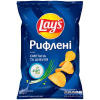 Чіпси Lays сметана та цибуля 133г