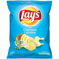 Чіпси Lays сметана та цибуля 71г