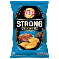 Чіпси Lays Strong Вогняні реберця 120г