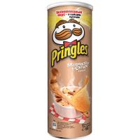Чіпси Pringles Білі гриби та сметана 165г