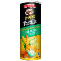 Чіпси Pringles Tortilla кукурудзяні зі смаком сметани 160г